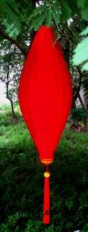 Red Asian Lanterns - Vietnamese Red Silk Lanterns