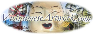 Asian art Vietnamese art Vietnam oriental Chinese Saigon Hanoi art artwork arts paintings silk lacquer laquer plates gallery galery dealers  handmade handpainted water puppets